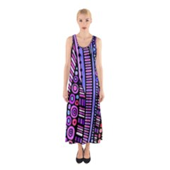 Stained glass tribal pattern Sleeveless Maxi Dress