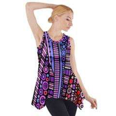 Stained Glass Tribal Pattern Side Drop Tank Tunic