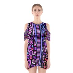 Stained glass tribal pattern Cutout Shoulder Dress