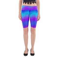 Melting Blues and Pinks Yoga Cropped Leggings