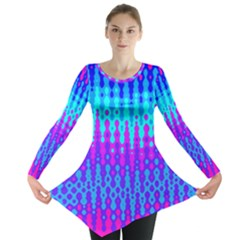 Melting Blues and Pinks Long Sleeve Tunic