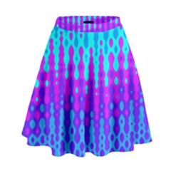 Melting Blues And Pinks High Waist Skirt
