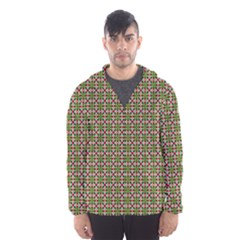 Christiane Xandra Small Pattern Green Red Yellow Hooded Wind Breaker (men)