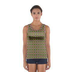 Christiane Xandra Small Pattern Green Red Yellow Tops