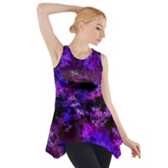Purple Skulls Goth Storm Side Drop Tank Tunic