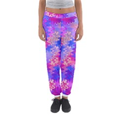 Pink and Purple Marble Waves Women s Jogger Sweatpants