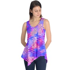 Pink and Purple Marble Waves Sleeveless Tunic