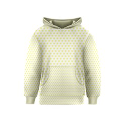 Small Yellow Hearts Pattern Kids  Pullover Hoodie