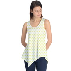 Small Yellow Hearts Pattern Sleeveless Tunic