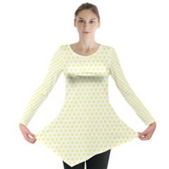 Small Yellow Hearts Pattern Long Sleeve Tunic