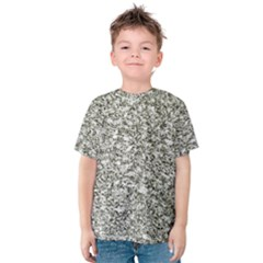 Black And White Abstract Texture Print Kid s Cotton Tee