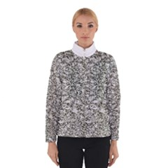 Black And White Abstract Texture Print Winterwear
