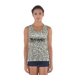 Black and White Abstract Texture Print Tops