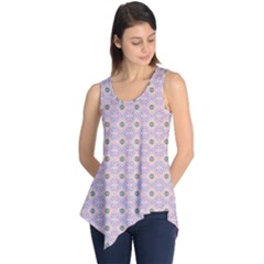 Anita Tuva Pattern Pink Purple Teal Peach Sleeveless Tunic