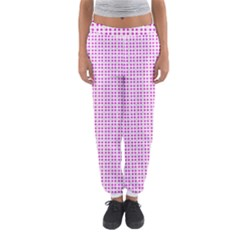 Rigmor Sorroya Retro Pattern Pink Peach White Women s Jogger Sweatpants
