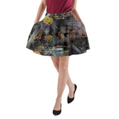 Happy Hallows Eve A-Line Pocket Skirt