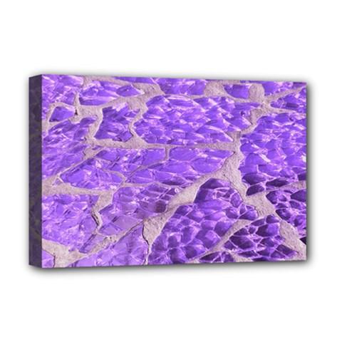 Festive Chic Purple Stone Glitter  Deluxe Canvas 18  x 12