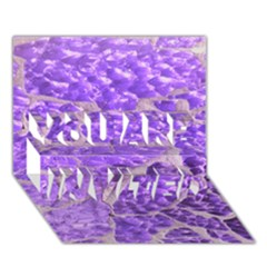 Festive Chic Purple Stone Glitter  YOU ARE INVITED 3D Greeting Card (7x5)