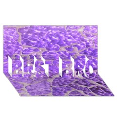 Festive Chic Purple Stone Glitter  Best Bro 3d Greeting Card (8x4)