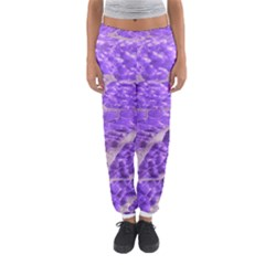 Festive Chic Purple Stone Glitter  Women s Jogger Sweatpants