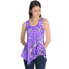 Festive Chic Purple Stone Glitter  Sleeveless Tunic