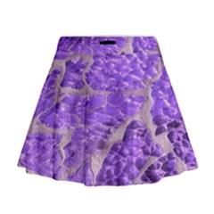 Festive Chic Purple Stone Glitter  Mini Flare Skirt