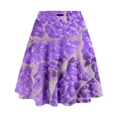 Festive Chic Purple Stone Glitter  High Waist Skirt