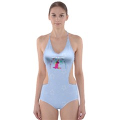 LIFE IS NOT A PONY RANCH Cut-Out One Piece Swimsuit