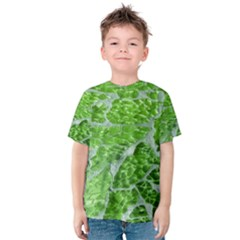 Festive Chic Green Glitter Shiny Glamour Sparkles Kid s Cotton Tee