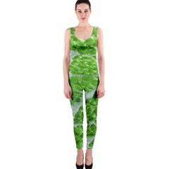 Festive Chic Green Glitter Shiny Glamour Sparkles OnePiece Catsuit