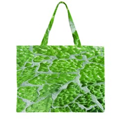 Festive Chic Green Glitter Shiny Glamour Sparkles Large Tote Bag