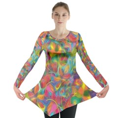 Colorful Autumn Long Sleeve Tunic