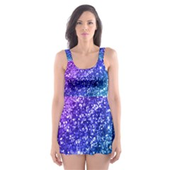 Glitter Ocean Skater Dress Swimsuit