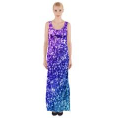 Glitter Ocean Maxi Thigh Split Dress