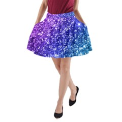 Glitter Ocean A Line Pocket Skirt