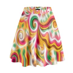 Sunshine Swirls High Waist Skirt