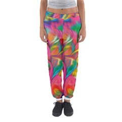 Colorful Floral Abstract Painting Women s Jogger Sweatpants