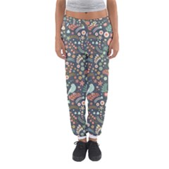 Vintage Flowers And Birds Pattern Women s Jogger Sweatpants