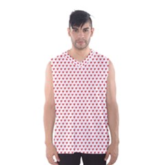 Red Small Hearts Pattern Men s Basketball Tank Top
