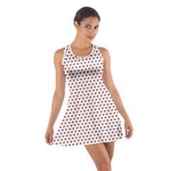 Ruby Red Small Hearts Pattern Racerback Dresses