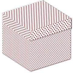 Ruby Red Small Hearts Pattern Storage Stool 12