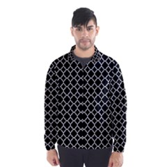 Black & White Quatrefoil Pattern Wind Breaker (men)