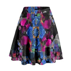 Stylized Geometric Floral Ornate High Waist Skirt