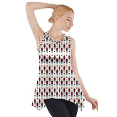 Geometric retro patterns Side Drop Tank Tunic