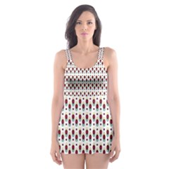 Geometric retro patterns Skater Dress Swimsuit