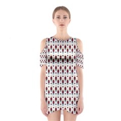 Geometric retro patterns Cutout Shoulder Dress