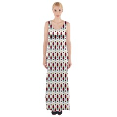 Geometric retro patterns Maxi Thigh Split Dress