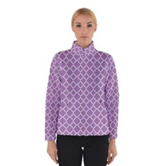 Lilac purple quatrefoil pattern Winter Jacket
