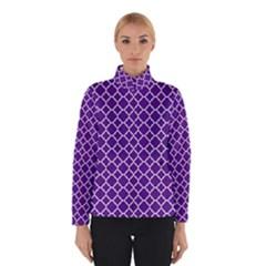 Royal Purple Quatrefoil Pattern Winter Jacket