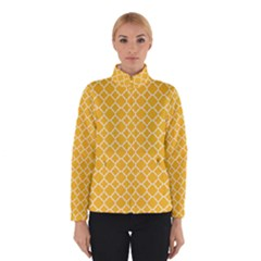 Sunny yellow quatrefoil pattern Winter Jacket